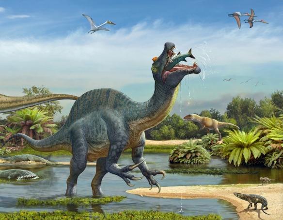 Fantastic new artwork of Spinosaurus by Sergey Krasovskiy